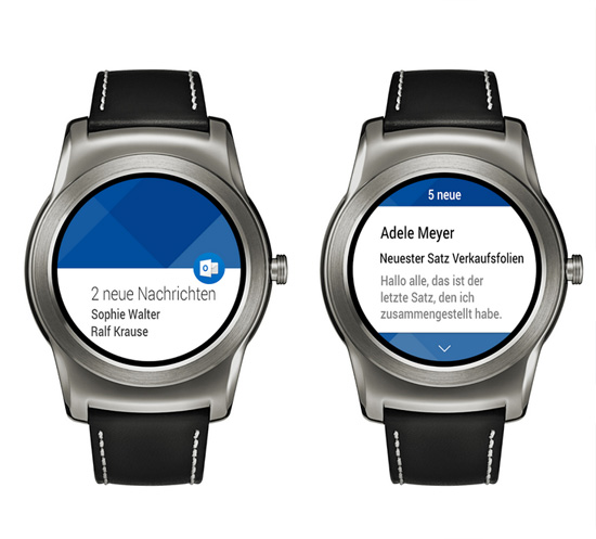 Outlook auf Android Smartwatch