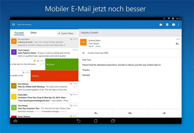 Outlook Applikation Update