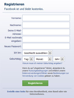 Facebook registrieren