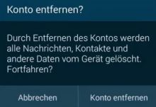 Android: Konto entfernen