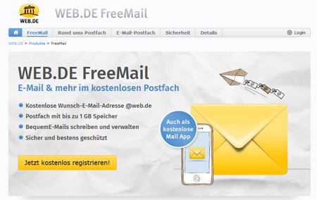free mail mein login
