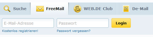 mail web de login